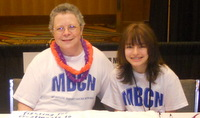 Kathy and Addie on the job for MBCN