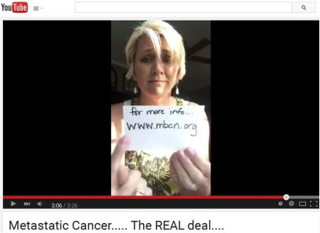 Holley's metastatic breast cancer video has been seen by millions.