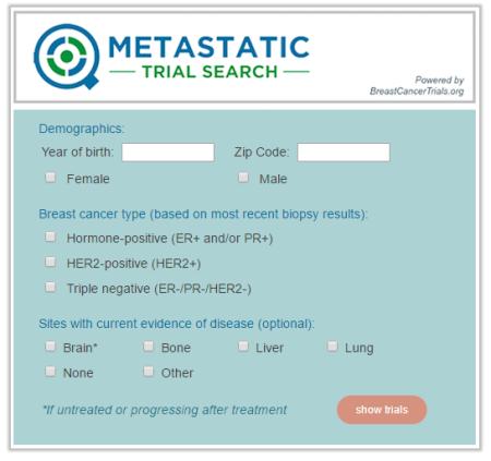 MetastaticTrialSearch